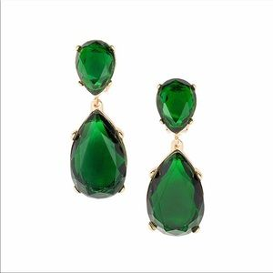 Kenneth Jay Lane Emerald Tear Drop earrings